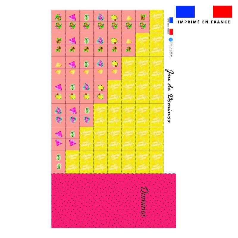 Patron imprimé pour jeu de dominos motif summer paradise