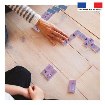 Patron imprimé pour jeu de dominos motif sirène