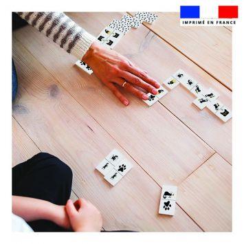 Patron imprimé pour jeu de dominos motif chat