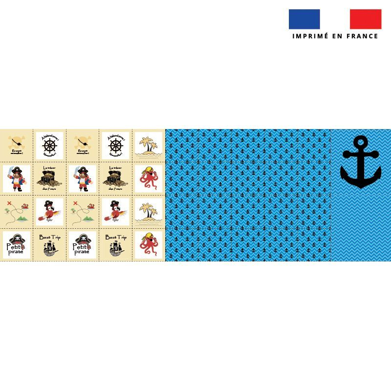 Patron imprimé pour jeu memory motif pirate