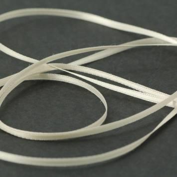 Ruban satin double face ivoire 3 mm