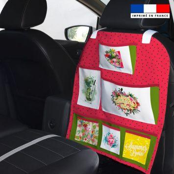 Patron pour organisateur de voiture motif summer paradise + Kit pochette Offert