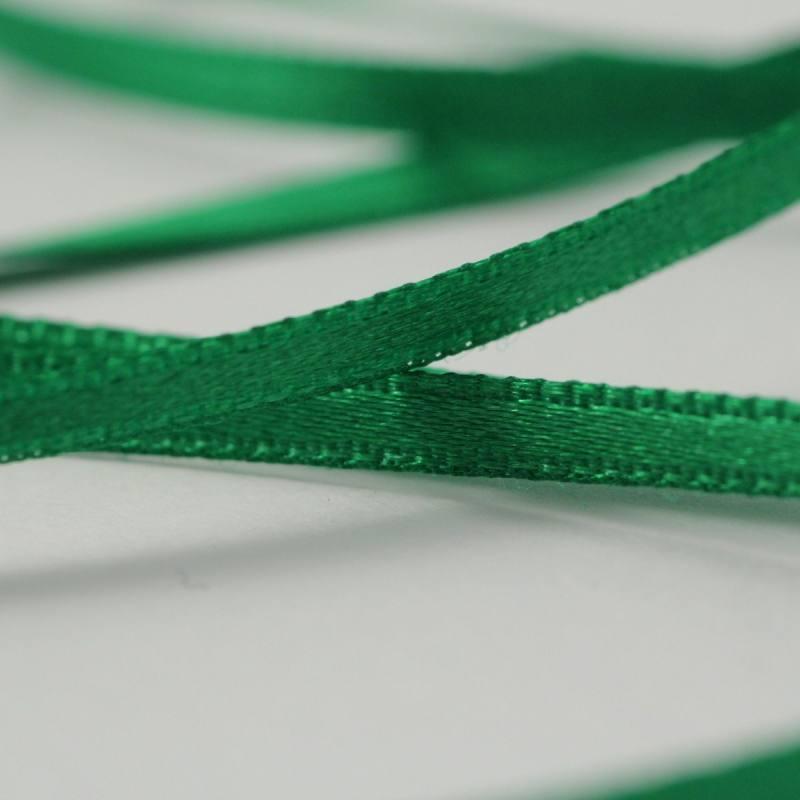 Ruban satin double face vert 3 mm