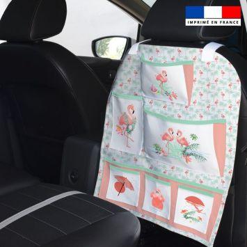 Patron pour organisateur de voiture motif flamant rose + Coupon pochette Offert