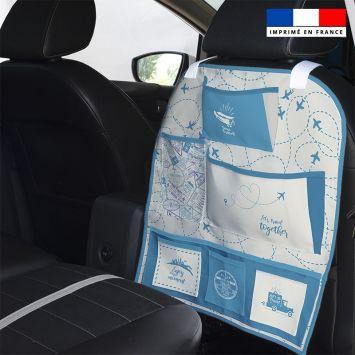 Patron pour organisateur de voiture motif voyage + Kit pochette Offert