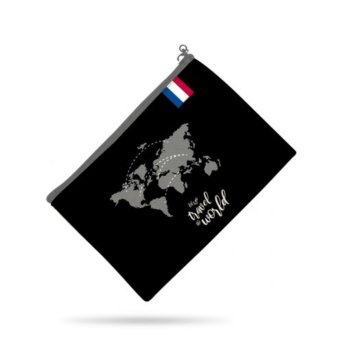 Patron pour organisateur de voiture motif géométrique noir + Coupon pochette Offert