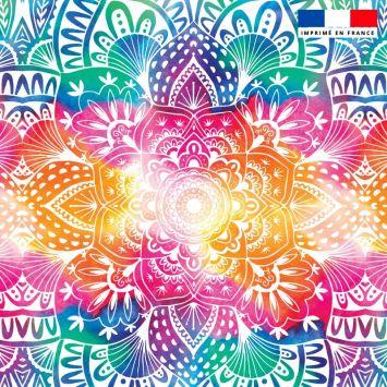 Mandala - Fond multicolore