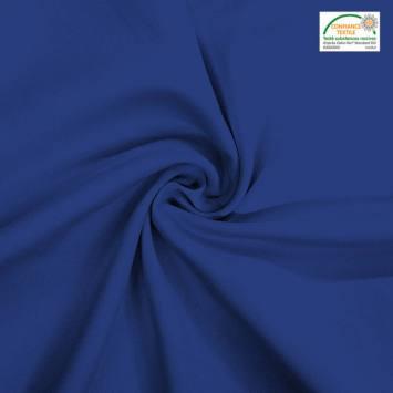 coupon - Coupon 50cm - Burlington infroissable Oeko-tex bleu indigo