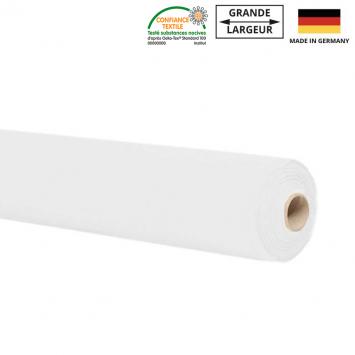 Rouleau 10m molleton blanc grande largeur Oeko-tex
