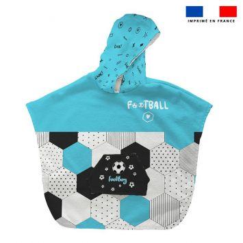 Patron imprimé sur tissu éponge pour poncho de bain motif football