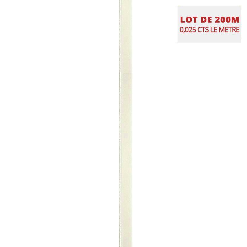 Lot de 200M d'élastiques de lingerie jaune pastel 9 mm
