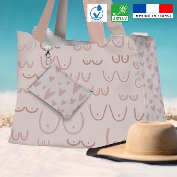 Kit sac de plage imperméable motif boobies - Queen size - Création by Tonckka
