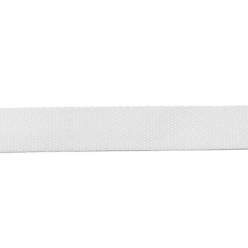 Rouleau 10m sangle coton 30mm blanche