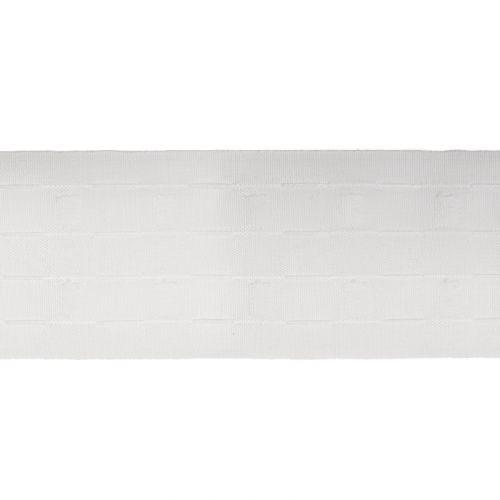 Ruban Fronceur blanc 75 mm