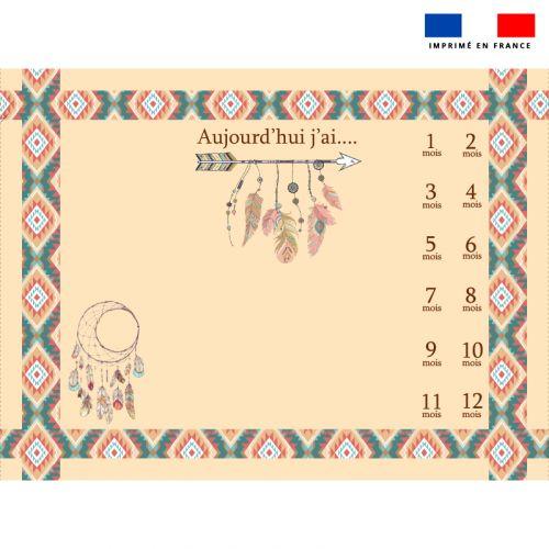 Coupon 100x75 cm pour couverture mensuelle bébé motif boho