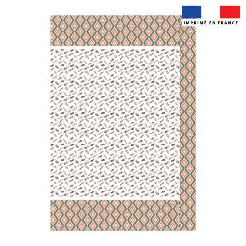 Coupon 135x200 cm de mousseline pour poncho de plage motif boho