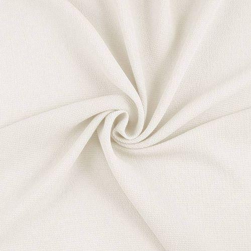 Tissu crêpe microfibre blanc cassé