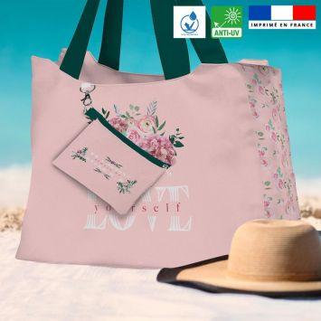 Kit sac de plage imperméable motif Always be HAPPY - King size