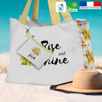 Kit sac de plage imperméable motif today is a good day - King size