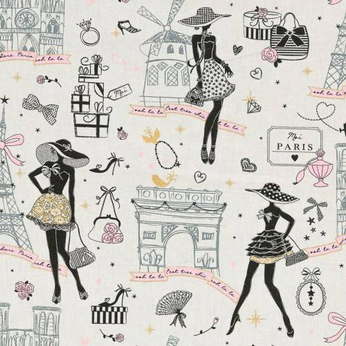 Coton j'adore Paris or