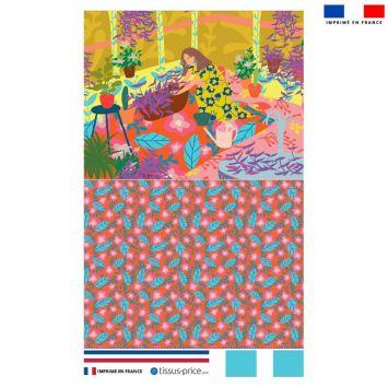 Kit pochette motif jardin - Création Julia Amoros