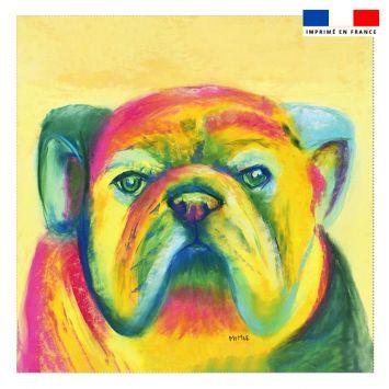 Coupon 45x45 cm motif chien - Création Mimie