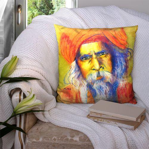 Coupon 45x45 cm motif homme hindou - Création Mimie