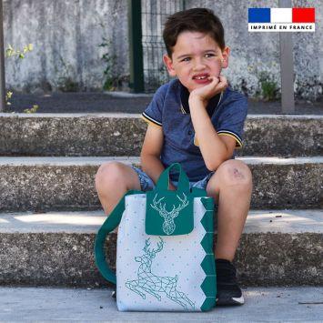 Kit sac à dos enfant motif cerf