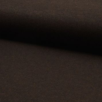 Tissu tweed noir motif chevron marron