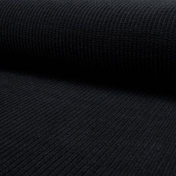 Tissu lainage maille chenille noir