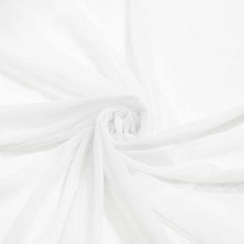 Tulle couleur blanc pour robe de mariée grande largeur