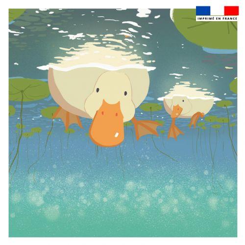 Coupon 45x45 cm motif bec de canard - Création KKCHENWEI