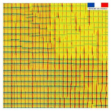 Coupon 45x45 cm motif clac verso - Création Khosravi