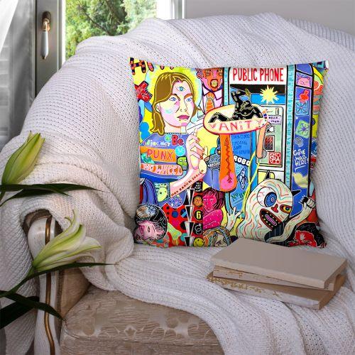 Coupon 45x45 cm motif love story recto - Création Khosravi