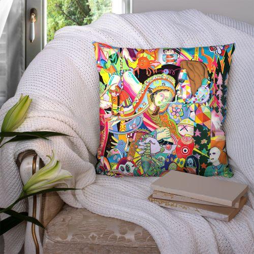 Coupon 45x45 cm motif paradise recto - Création Khosravi