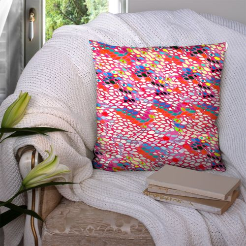 Coupon 45x45 cm motif poupette verso - Création Khosravi