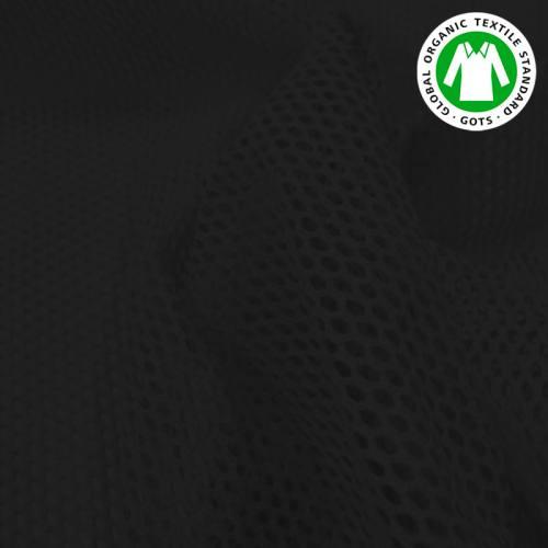 Tissu filet mesh noir en coton bio