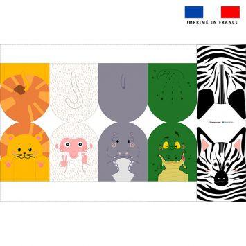 Kit mini-gants nettoyants motif animaux de la savane