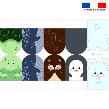 Kit mini-gants nettoyants motif animaux marins