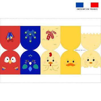 Kit mini-gants nettoyants motif oiseaux