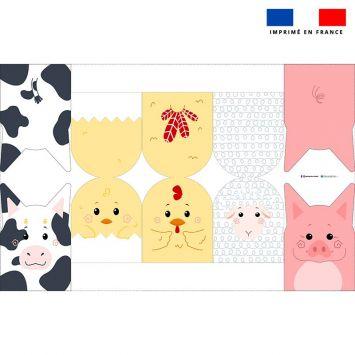 Kit mini-gants nettoyants motif animaux de la ferme