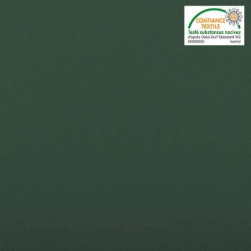 Burlington infroissable grande largeur vert sapin Oeko-tex
