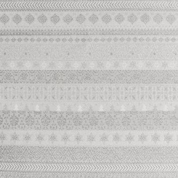 Jacquard blanc motif hiver scandinave argenté