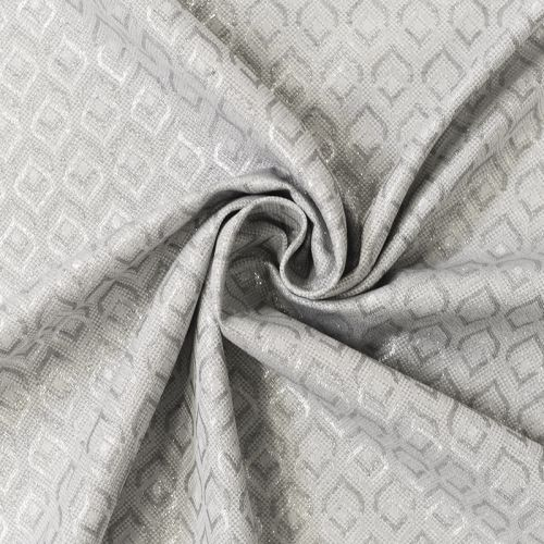Jacquard blanc motif ethnique argenté Noel