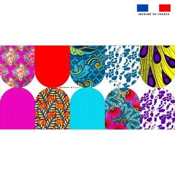 Kit mini-gants nettoyants motif wax patchwork