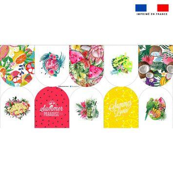 Kit mini-gants nettoyants motif tropical paradise