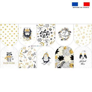 Kit mini-gants nettoyants motif ambiance d'hiver