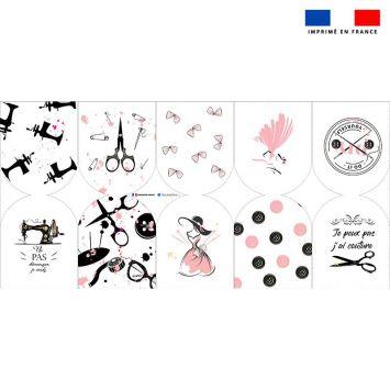 Kit mini-gants nettoyants motif atelier couture