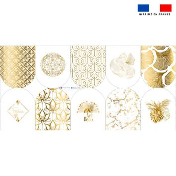 Kit mini-gants nettoyants motif art déco gold