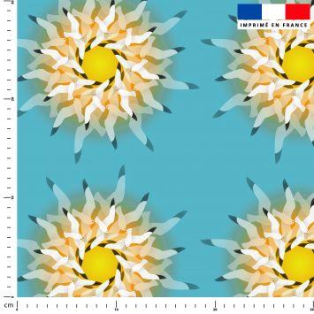 Mouettes - Fond bleu - Création Lita Blanc